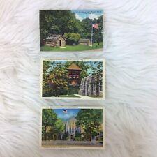 Lot Three Valley Forge PA  Lynn H. Boyer Jr Postcards CT Art Colortone
