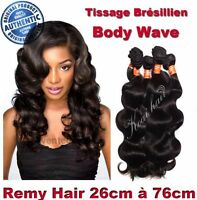 TISSAGE BRESILIEN 100% NATUREL ONDULE BODY WAVE VIRGIN HAIR REMY 26CM-76CM 100G