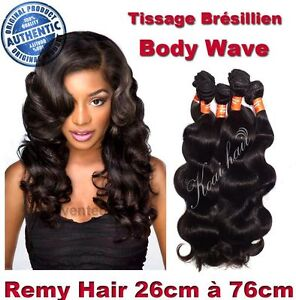 TISSAGE BRESILIEN 100% NATUREL ONDULE BODY WAVE VIRGIN HAIR REMY 26CM-76CM 100G