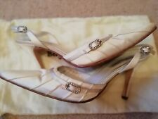 Benjamin Adams Designer Silk/Satin Shoe Sling Back Size 38/UK5 Wedding Occasion