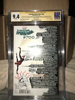 Amazing Spiderman 700 Cgc 9.4 Signed X10