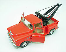 New Kinsmart 1955 Chevy 3100 Stepside Tow Truck Diecast Model Toy 1:32 Orange