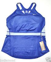 ~NIKE top Tennis Maria Sharapova XL New Navy Blue Dri-Fit stay cool~ racer tank