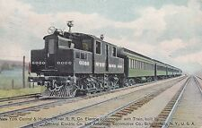 NY Central & Hison Rivere RR Co Electric Locomotive with Train