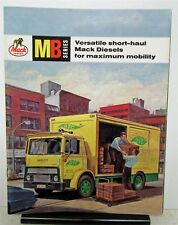 1964 Mack Truck Model MB Sales Brochure With Front Page Fold Out