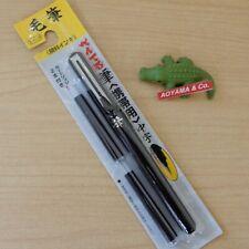 Pentel Japan FUDE PEN Pocket Brush Pen Medium with 2 Black Ink Refills XGFKP-A