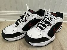 Nike Air Monarch IV 415445101 Black/White Running Shoes Lace Up Mens Size 10