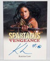 2013 Rittenhouse Spartacus Vengeance Katrina Law Mira Signed Autograph Card Auto