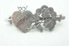 1881 Victorian Sterling silver Mizpah Sweetheart brooch