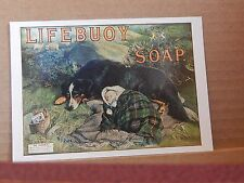Postcard Advertising lifebuoy Soap  Old Advert Modern card