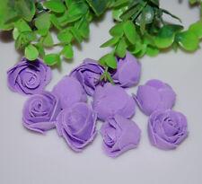 76pcs MIXED ROSE MULBERRY PAPER FLOWER ARTIFICIAL CRAFT SCRAPBOOK WEDDING purple