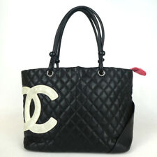 Authentic CHANEL 9106106 Cambon line large size Tote Bag leather[Used]