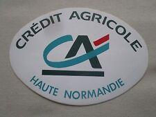 AUTOCOLLANT STICKER AUFKLEBER BANQUE BANK CREDIT AGRICOLE HAUTE NORMANDIE