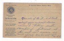 1893 UX10 Boston Massachusetts, Advertising, Boston Gear Works, Wheels & Cutting