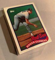 50) ROGER CLEMENS Boston Red Sox 1989 Topps Baseball Card #450 LOT