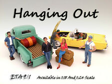 Hanging Out Set - ALL 6 FIGURES - 1/18 scale figure/figurine - AMERICAN DIORAMA