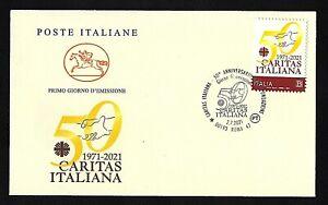 """Italia 2021 : Caritas Italiana - FDC """" Cavallino """" / 1° giorno di emissione"""
