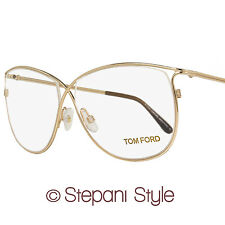 Tom Ford Butterfly Eyeglasses TF5145 028 Size: 54mm Gold/Brown 5145