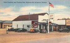 Ted's Fountain & Trading Post, Seligman, AZ Route 66 Roadside ca 1940s Postcard
