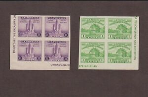 US,730,731,MNH ,VF,BLOCK OF 4, FARLEY 1935 CHICAGO CONVENTION,MINT NH,NGAI