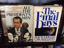 Woodward and Bernstein All The President's Men, Final Days Signed By Bernstein