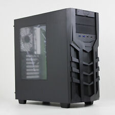 SHARKOON DG7000 Green Steel / Plastic ATX Mid Tower Gaming PC Case