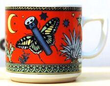 PAPILLON rot BOPLA Porzellan Espressotasse 0,09l stapelbar Motiv: Schmetterling