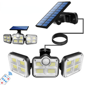Solar LED Street Lamp Motion Sensor Remote Control Wall Flood Yard Outdoor Lamp