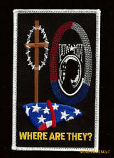 POW MIA WHERE ARE THEY? HAT PATCH US ARMY MARINES NAVY AIR FORCE USCG FLAG QUILT