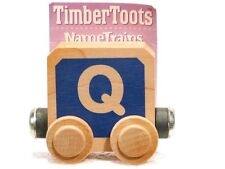 Timber Toots Name Trains Wooden Railway System Alphabet Preschool Toys Letter Q