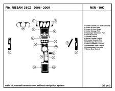 Real Carbon Fiber Dash Kit for 350Z 06-09 Manual Trans- main kit- NSN-10K