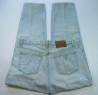 Vintage Guess Mens 10001 Green Triangle Logo Denim Light Wash Blue Jeans Size 37