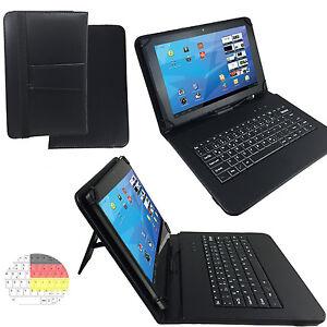 10.1 zoll Qwertz Tablet Tasche - Chuwi Hi10 Ultrabook Etui - Tastatur Schwarz 10
