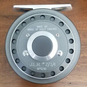 numbered Hardy JLH 2/3/4 fly reel circa 1992 w/ spare spool