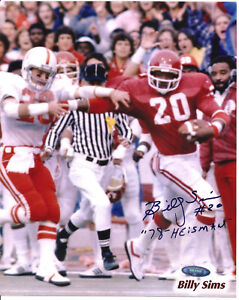 BILLY SIMMS Oklahoma Sooners 8X10 Autographed Photo with TriStar COA #317240