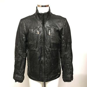 Hugo Boss Biker Jacket Size UK M Regular Black Trend Menswear Plain 421305