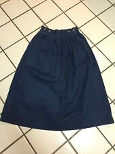 RARE Vintage Abercrombie & Fitch pleated long denim skirt- Sz 4 USA!