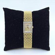 Baume Mercier 14k Gold Diamond Mother of Pearl Ladies Watch Bracelet