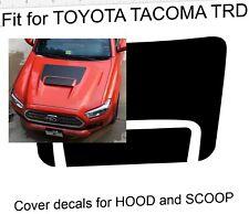 for TOYOTA TACOMA 2016-2018 TRD Pro Hood / Scoop BLACK wrap vinyl decal sticker