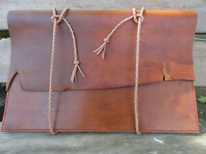 Handcrafted leather laptop sleeve