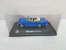 Original Skoda Modellauto 1:43 Typ Felicia Cabrio Blau