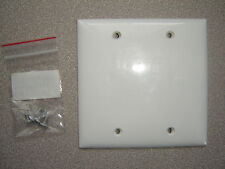 Mulberry 90152, 2 Gang White Thermoplastic Blank Wall Plate
