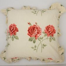 Ruffle Rose Print Cotton Cushion Cover 40x40