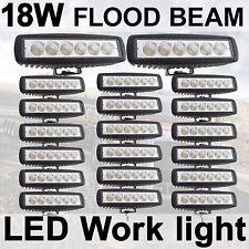 """20X 6"""" 18W 6*3W LED Flood Work Driving Light bar Car Jeep 4WD Honda 4X4 SUV IP68"""