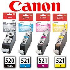 4x ORIGINAL CANON PGI-520BK CLI-521C -521M -521Y 520 521 TINTE PATRONEN SPARSET