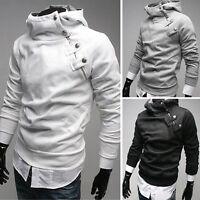 Men Warm Hoodie Hooded Long Sleeve Sweatshirt Sweater Tops Jacket Coat Outwear A