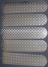 "New DIAMOND PLATE SILVER GARAGE MOTORCYCLE TRUCK 52"" Ceiling Fan BLADES ONLY"