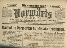 VORWÄRTS (15. Januar 1917): Vadeni im Vormarsch auf Galatz genommen [WK1/WW1]