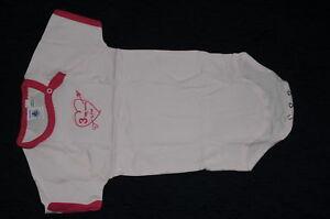 Neuf PETIT BATEAU Rose Coton Body Un Piecejumpsuit Fille 36 M