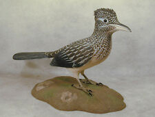 Greater Roadrunner Original Bird Wood Carving